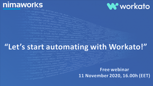 """Let's start automating with Workato!"" Free webinar"