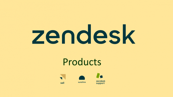 Zendesk products